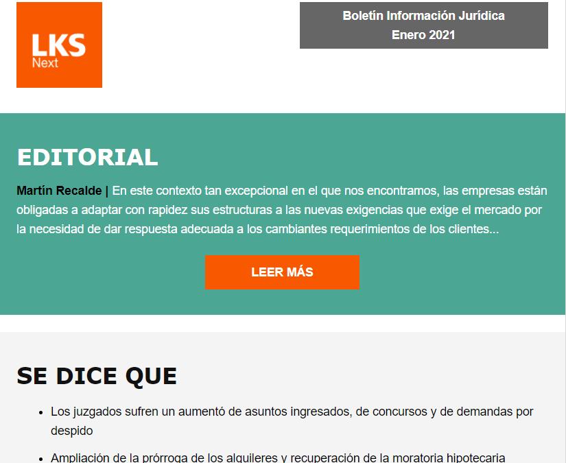 Nuevo formato de nuestro Boletín de Información Jurídica